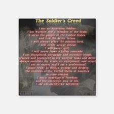 "2-Soldiers Creed Square Sticker 3"" x 3"""