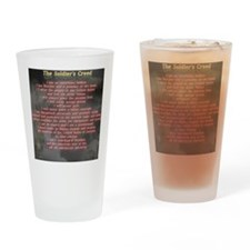 2-Soldiers Creed Drinking Glass