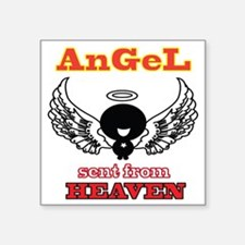 "angel png 2 Square Sticker 3"" x 3"""
