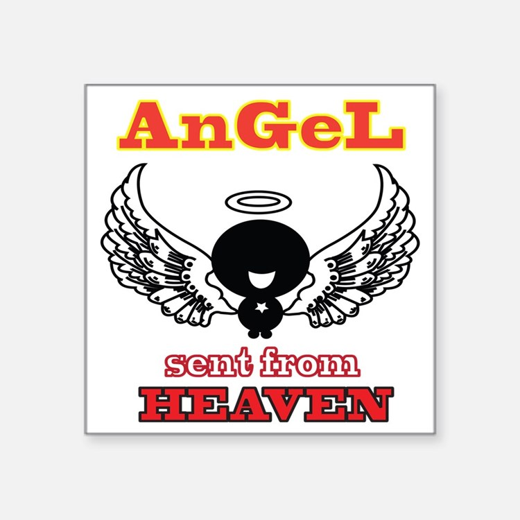 """angel png 2 Square Sticker 3"""" x 3"""""""
