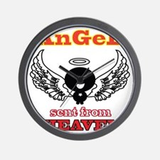angel png 2 Wall Clock