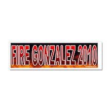 TX GONZALEZ Car Magnet 10 x 3
