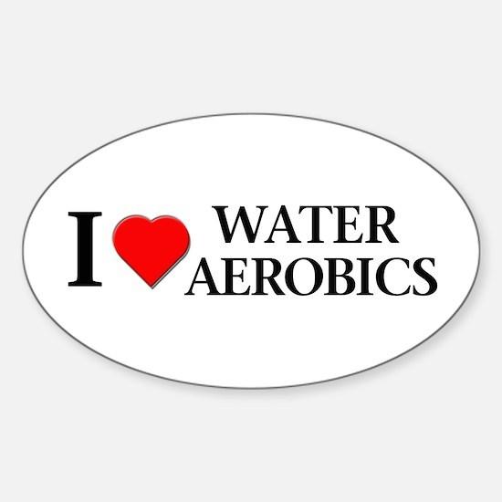 Water Aerobics Oval Decal