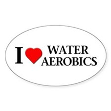 Water Aerobics Oval Stickers