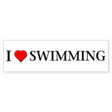 I love swimming Bumper Bumper Sticker