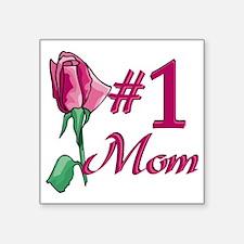 "#1 Mom Square Sticker 3"" x 3"""