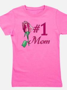 #1 Mom Girl's Tee