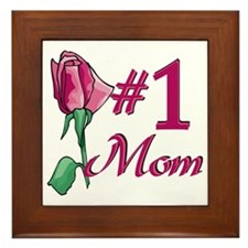 #1 Mom Framed Tile