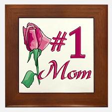 #1 Mom Framed Tile