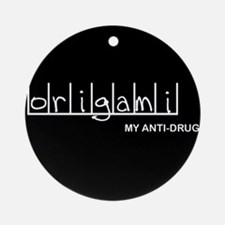 Origami - My Anti-Drug Ornament (Round)