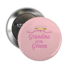 Grandma Of The Groom Wedding Button