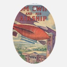 Tom Swift and his Airship 2 Oval Ornament