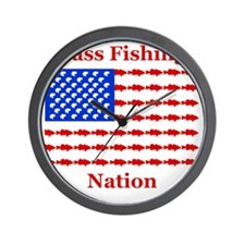 bass nation dark Wall Clock
