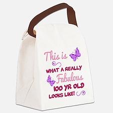Cute Bday Canvas Lunch Bag