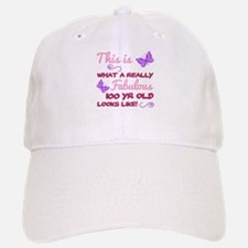 Fabulous 100th Birthday Baseball Baseball Cap