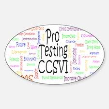 Pro_Testing_for_CCSVI rev7 Sticker (Oval)