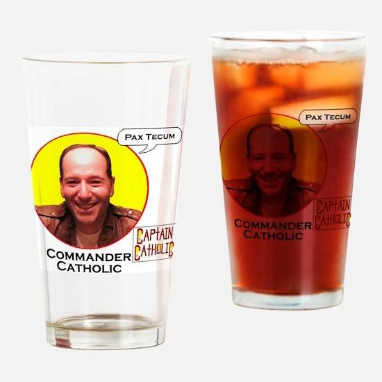 Commander Catholic - Character Spot Drinking Glass