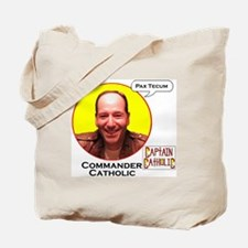 Commander Catholic - Character Spotlight  Tote Bag