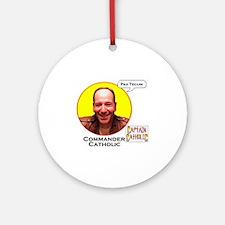 Commander Catholic - Character Spot Round Ornament