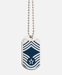 USAF-CMSgt-Blue Dog Tags