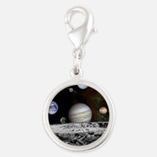 planets2 Silver Round Charm
