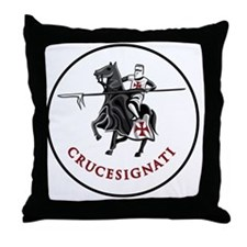 crusader border Throw Pillow