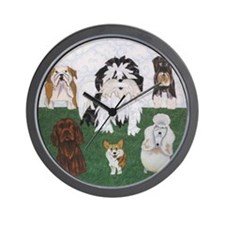 LucyandtheStreetSniffers_GV_11x11framed Wall Clock
