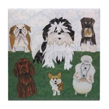 LucyandtheStreetSniffers_GV_11x11fram Tile Coaster
