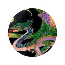 "2-dragon tile-Prussian(5) 3.5"" Button"