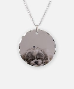 Shih Tzu Puppy Rests Necklace