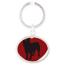 French Bulldog 10x10 Oval Keychain