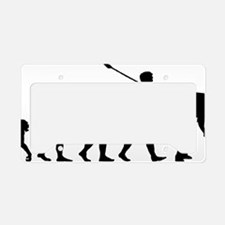 Curling Player License Plate Holder
