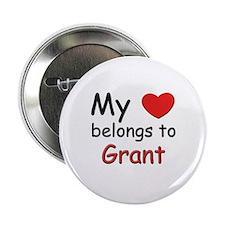 My heart belongs to grant Button