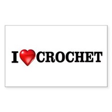 I love crochet Rectangle Decal