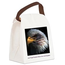 eagle with text Canvas Lunch Bag