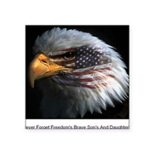 "eagle with text Square Sticker 3"" x 3"""