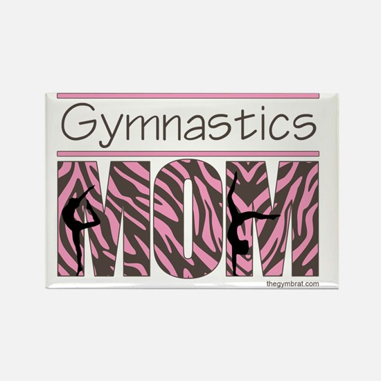 Gymnastics_Mom_Zebra_Ver1_2 Rectangle Magnet