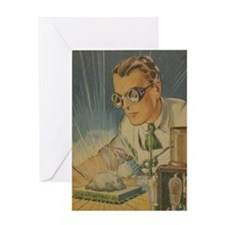 Tom Swift in the Lab Greeting Card