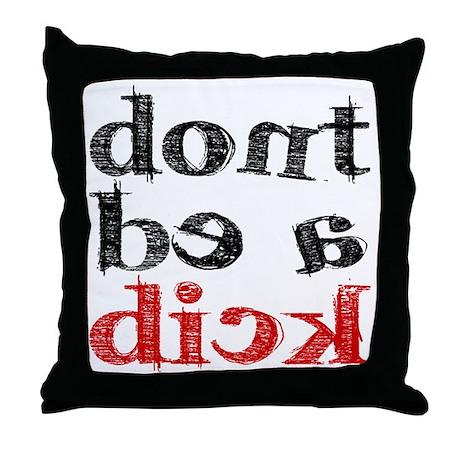 dick.gif Throw Pillow