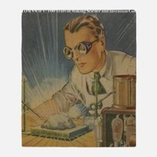Tom Swift in the Lab Throw Blanket