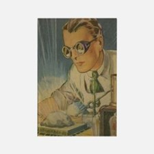 Tom Swift in the Lab Rectangle Magnet