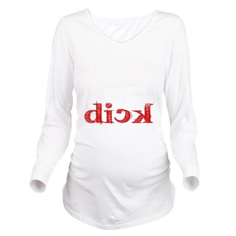 dick_white.gif Long Sleeve Maternity T-Shirt