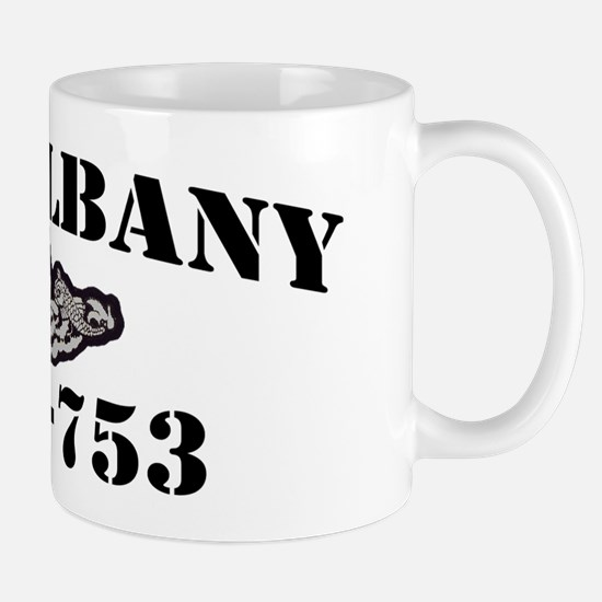 2-albany black letters Mug
