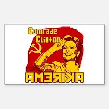 Comrade Clinton Rectangle Decal