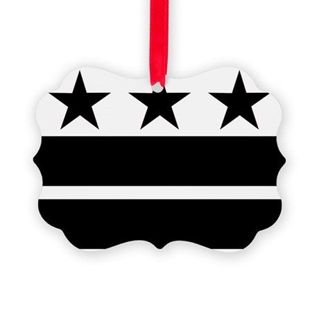 black_dcflag Picture Ornament