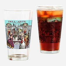 Commedia Plus Womens Tshirt Drinking Glass