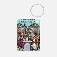Commedia Plus Womens Tshir Aluminum Photo Keychain