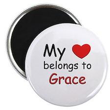 My heart belongs to grace Magnet