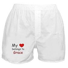 My heart belongs to grace Boxer Shorts