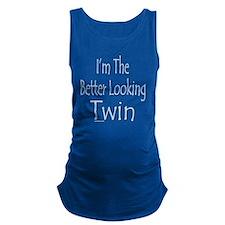 ImTheBetterLookingTwinBlk Maternity Tank Top